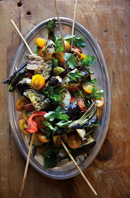 Gluten-Free Charred Vegetable Brochettes Recipe