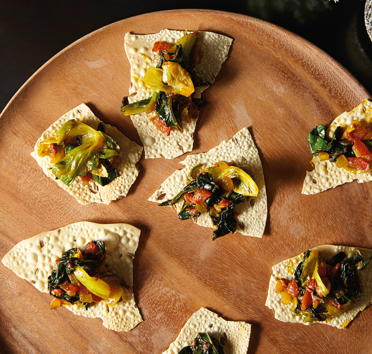 Gluten free, vegan appetizer with Indian spices