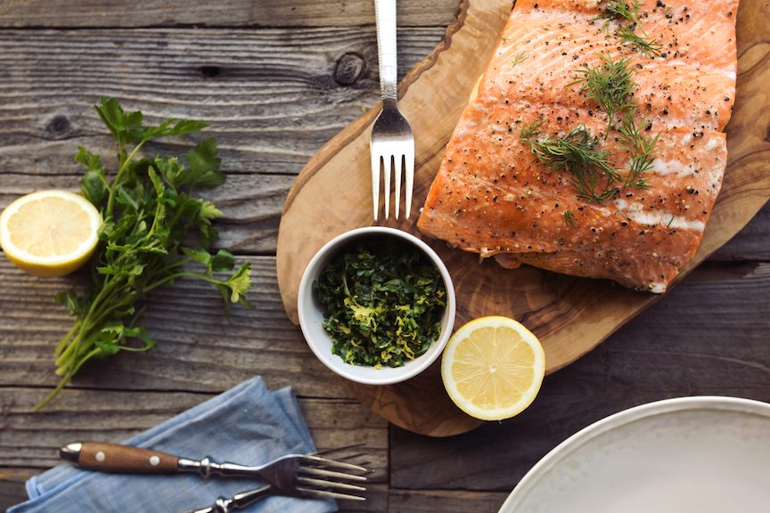 Beth Manos Brickey's Slow-Roasted Salmon with Meyer Lemon Gremolata Recipe