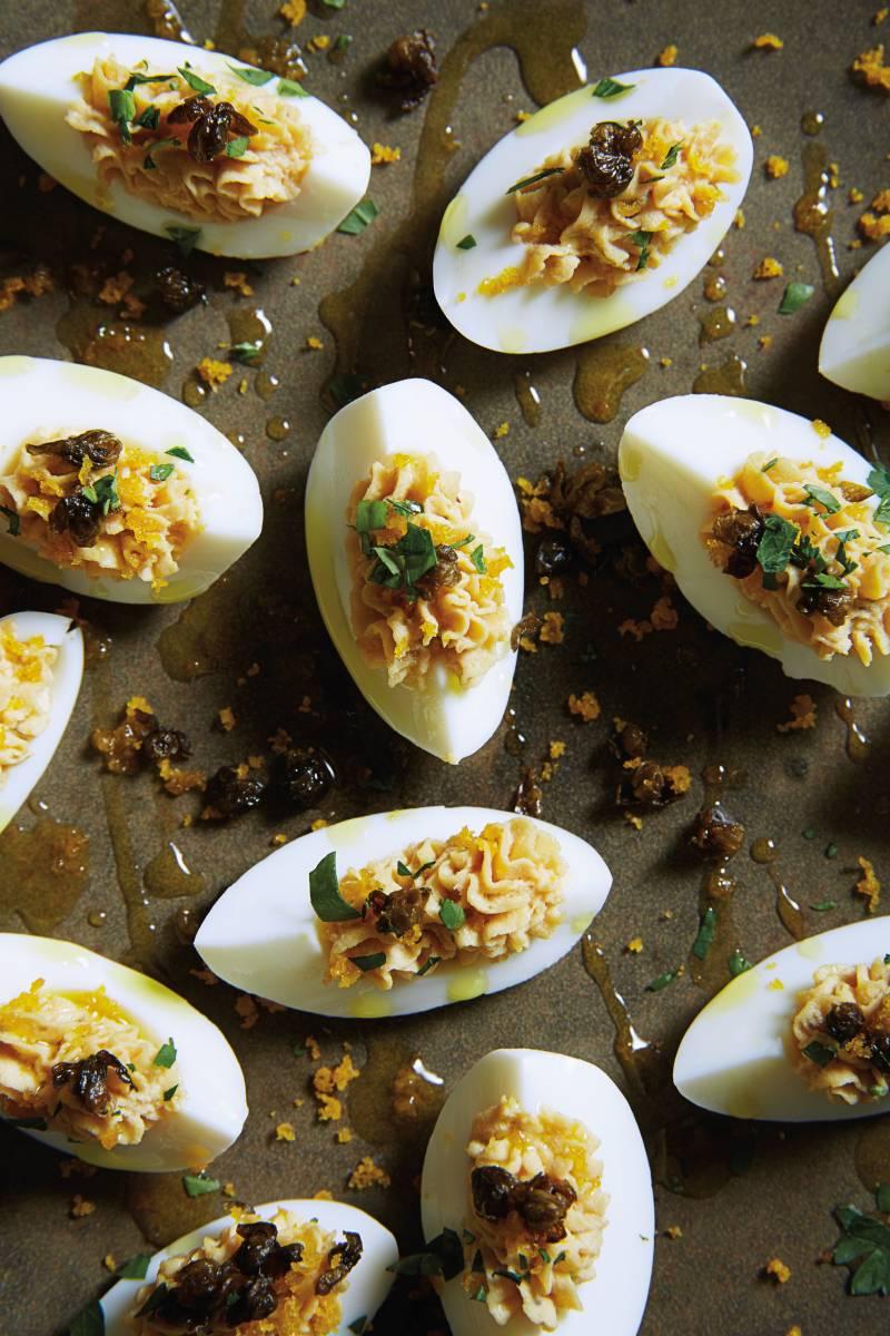 Gluten-Free Deviled Eggs Tonnato with Bottarga and Crispy ...