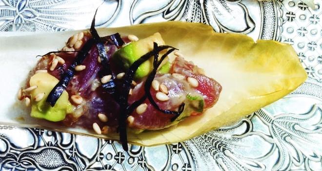 Tuna Poke and Avocado Cups with Miso Dressing Recipe
