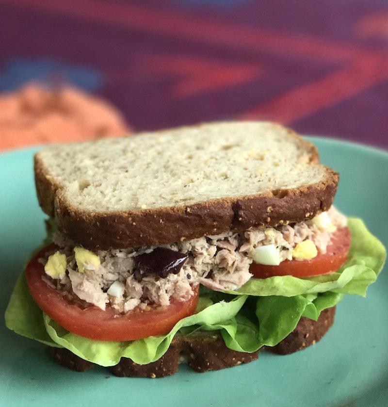 Sponsored Recipe Gluten Free Tuna Nicoise Sandwich