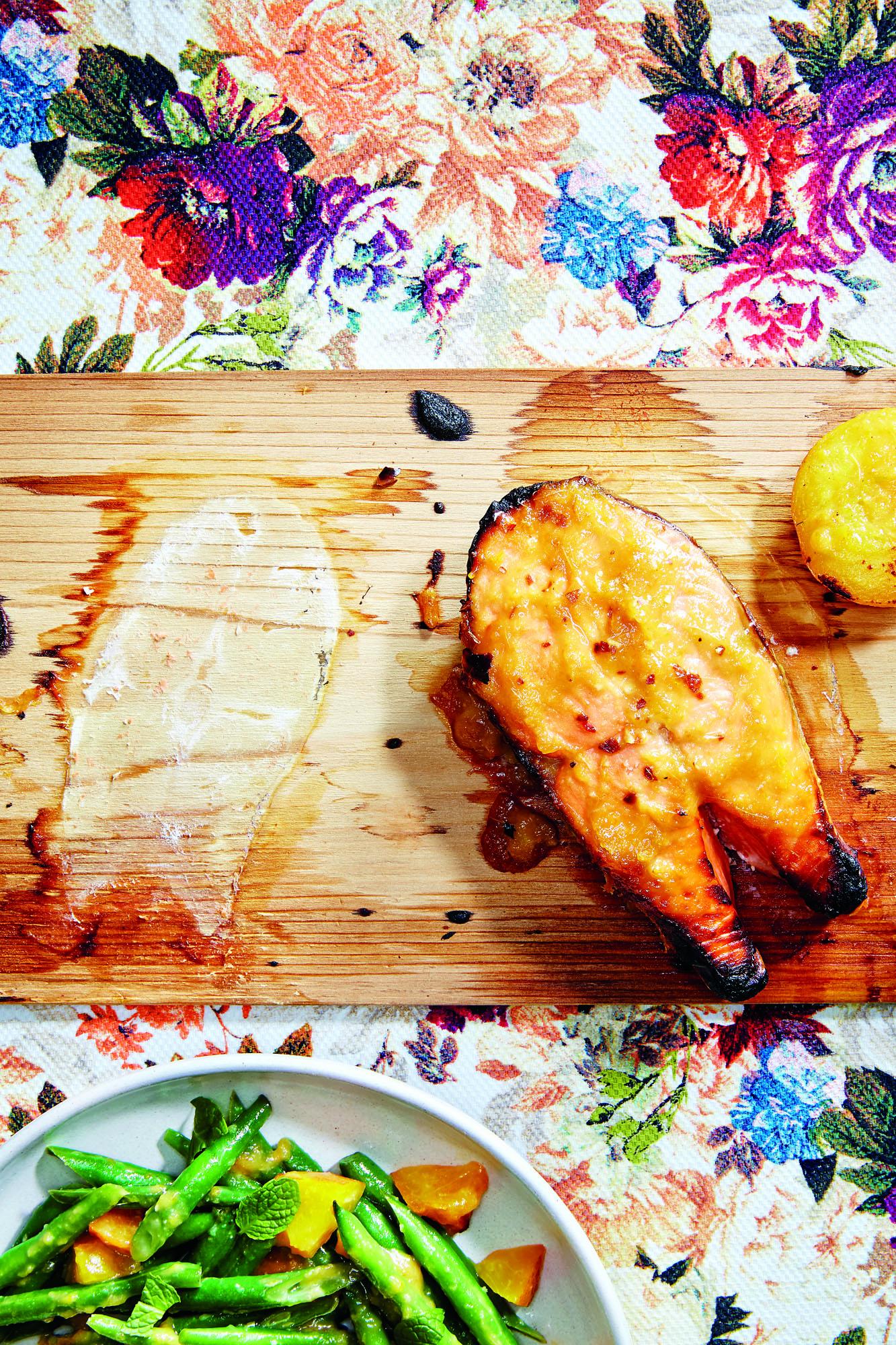531faf185004 Gluten-Free Cedar Plank–Roasted Salmon with Apricot Glaze