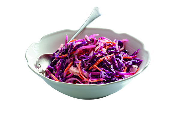 Gluten-Free Red Cabbage and Fennel Slaw with Horseradish Vinaigrette Recipe