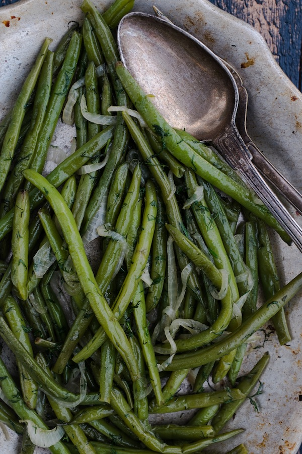 Gluten-Free Braised Green Beans with Dill Recipe