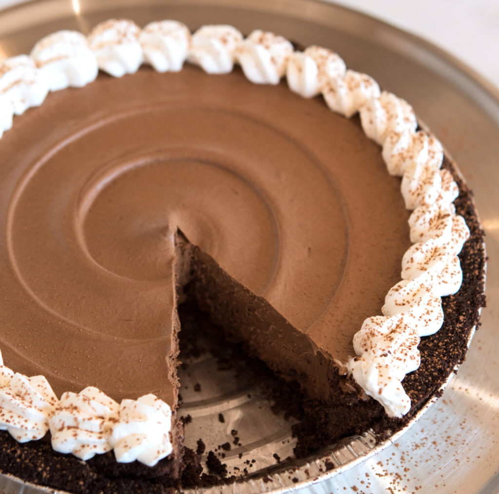 Gluten-Free Chocolate Peppermint Mousse Pie