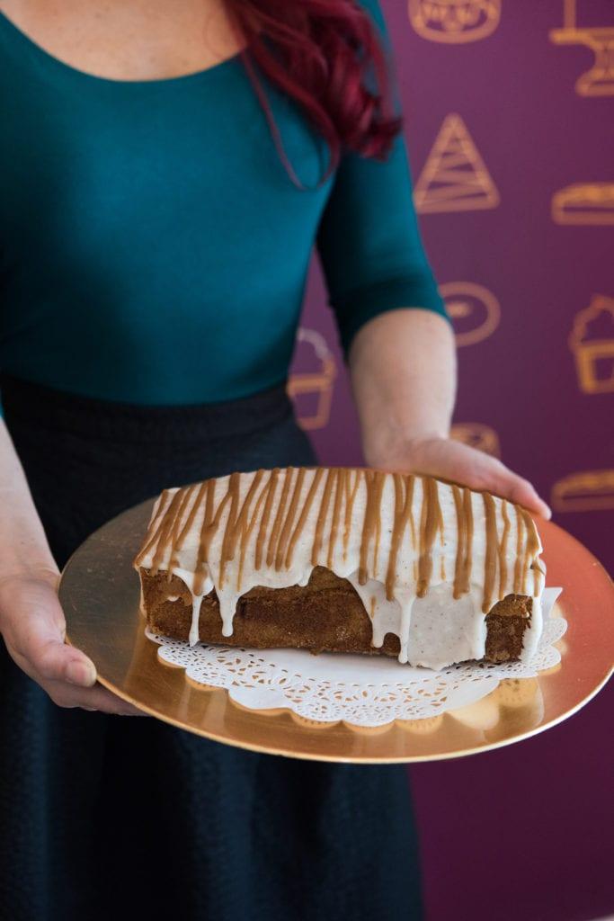 Kyra Bussanich's Gluten-Free Eggnog Latte Pound Cake Recipe