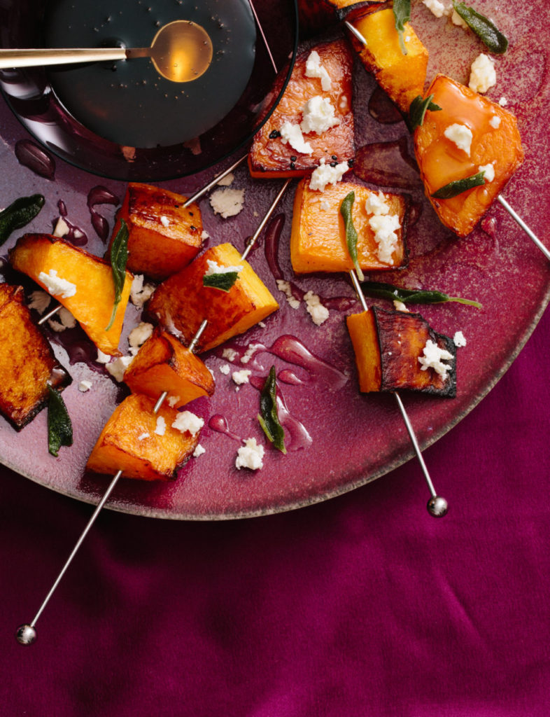 Roasted Butternut Squash with Feta, Honey, and Fried Sage