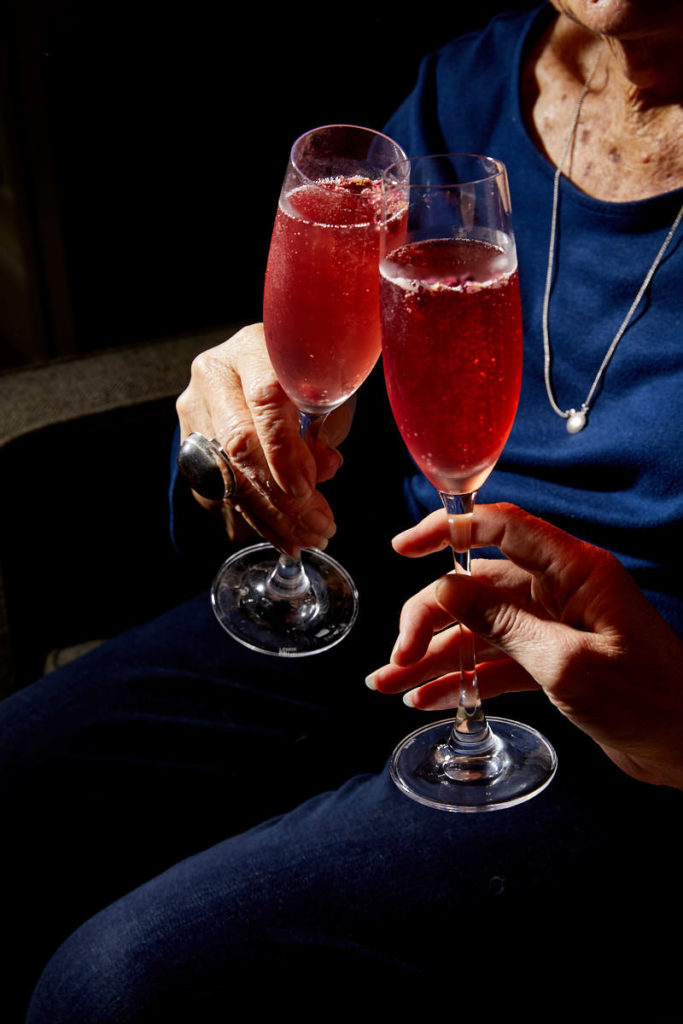 Pomegranate Rose Sparkling Wine Cocktail Recipe