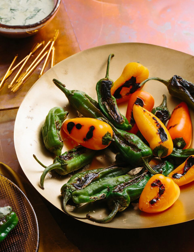 Charred Peppers with Herby Ranch Dip Gluten-Free Recipe
