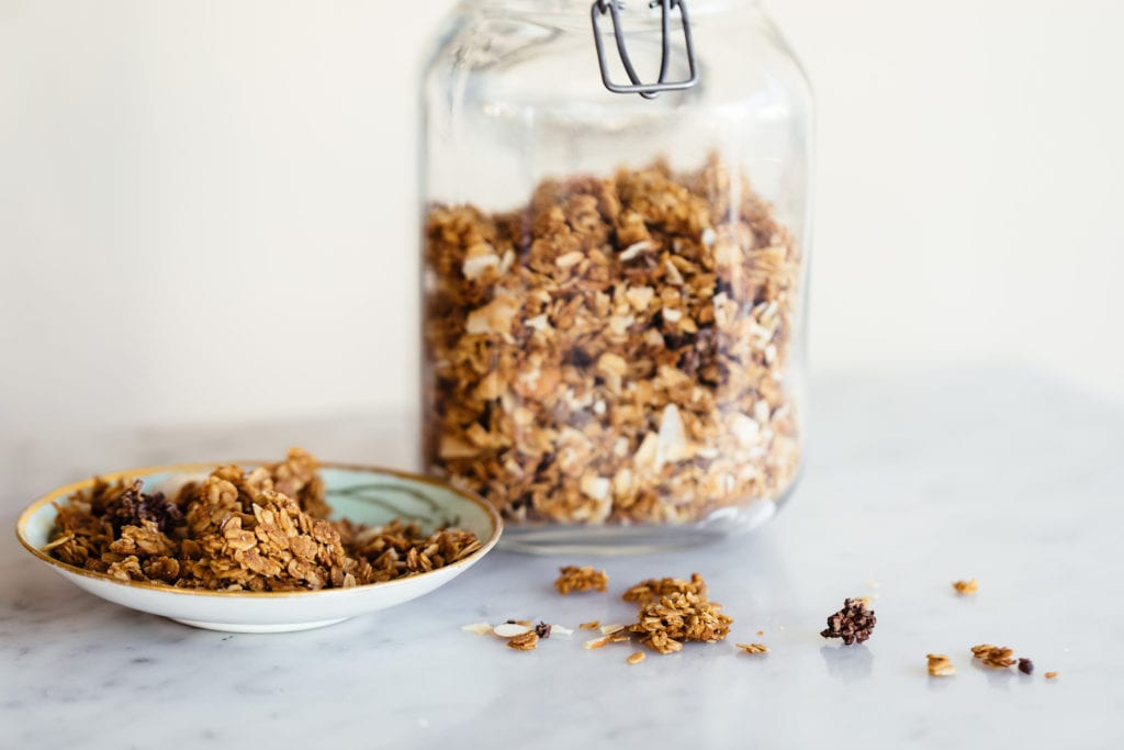 Coconut-Almond Granola with Candied Cocoa Nibs Gluten-Free Recipe
