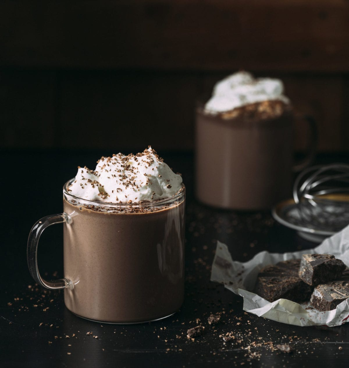 Gluten Free Mexican Hot Chocolate With Bourbon Whipped