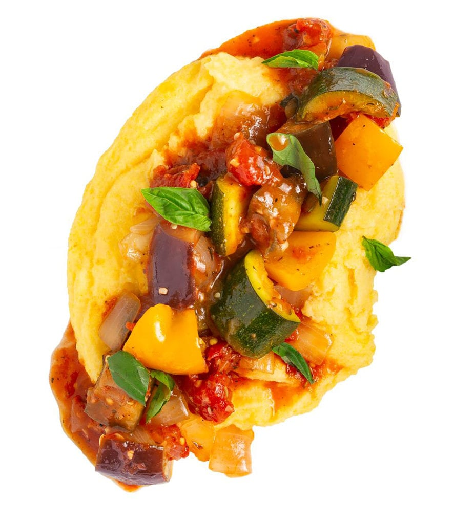 Gluten-Free Ratatouille with Quick Creamy Polenta Recipe