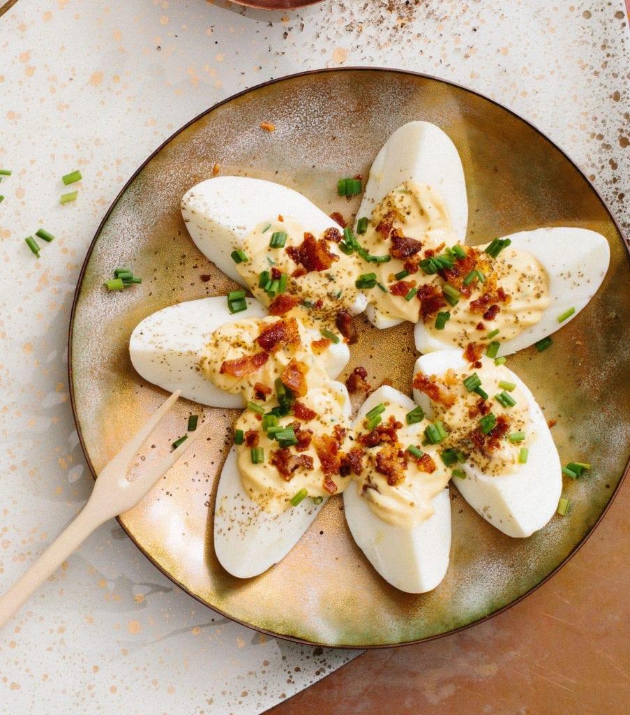Smoky Bacon Deviled Eggs Gluten-Free Recipe