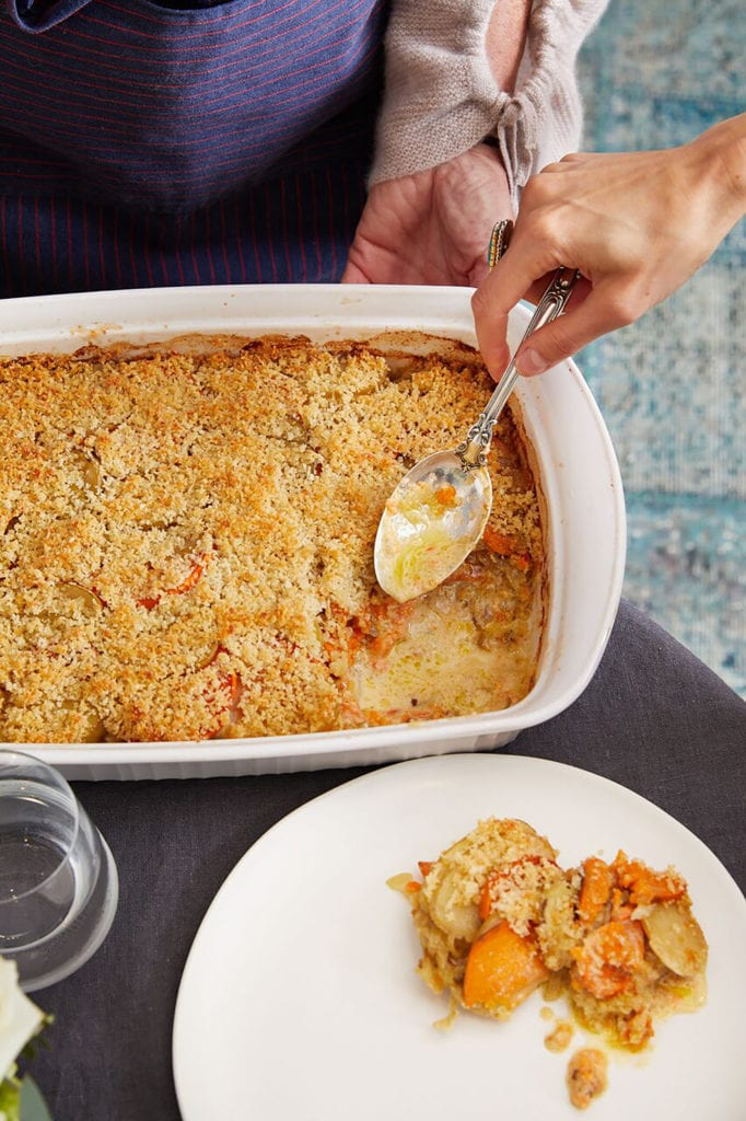 Yukon Gold, Sweet Potato, and Caramelized Fennel Gratin Recipe