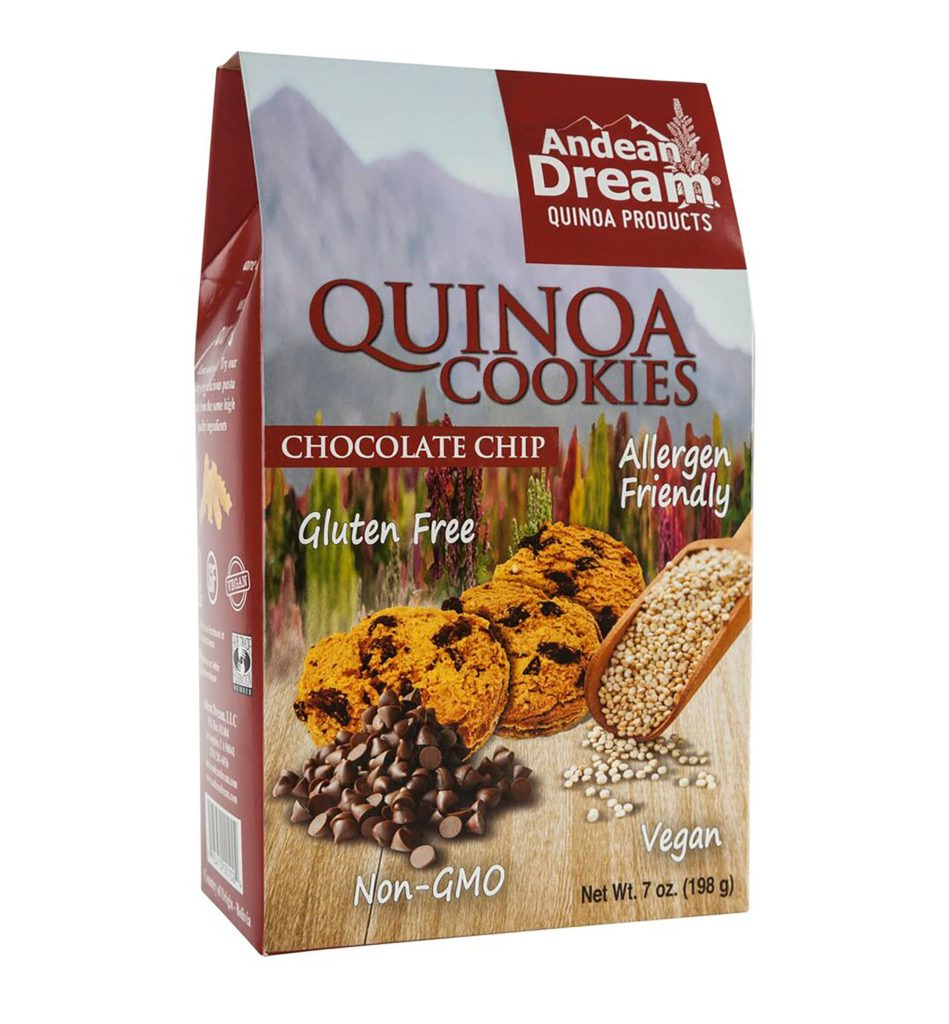 Product Review: Andean Dream Chocolate Chip Gluten Free Quinoa Cookies