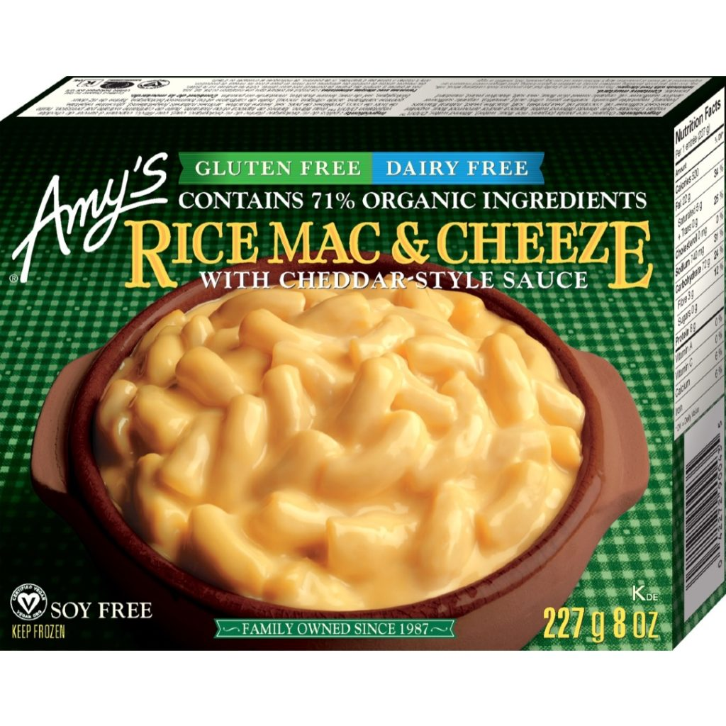 Product Review: Amy's Gluten-Free Dairy-Free Rice Mac & Cheeze