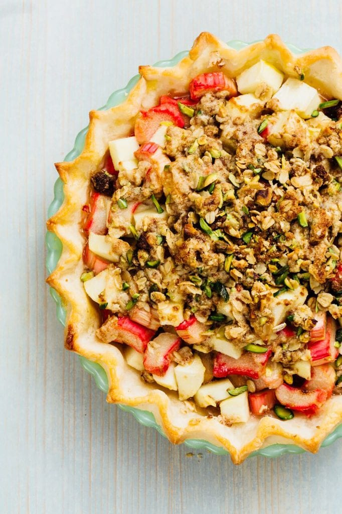 Apple, Rhubarb, and Ginger Pie Gluten-Free Recipe
