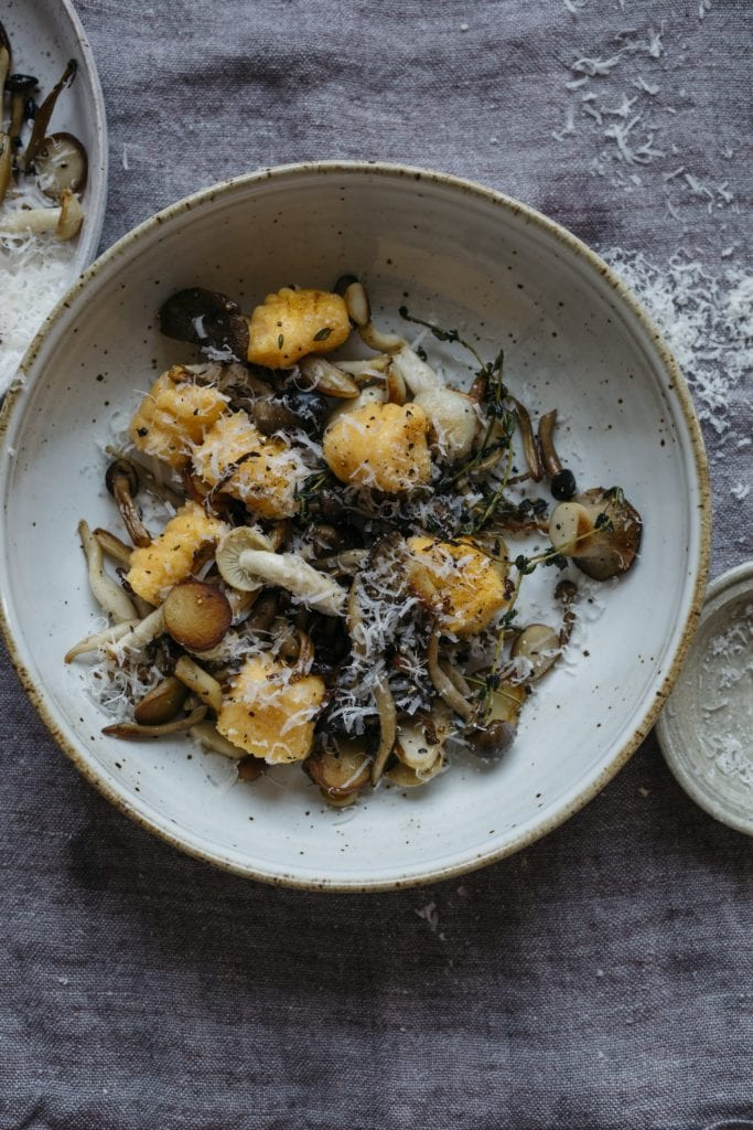 Butternut Squash Gnudi with Wild Mushrooms Gluten-Free Recipe