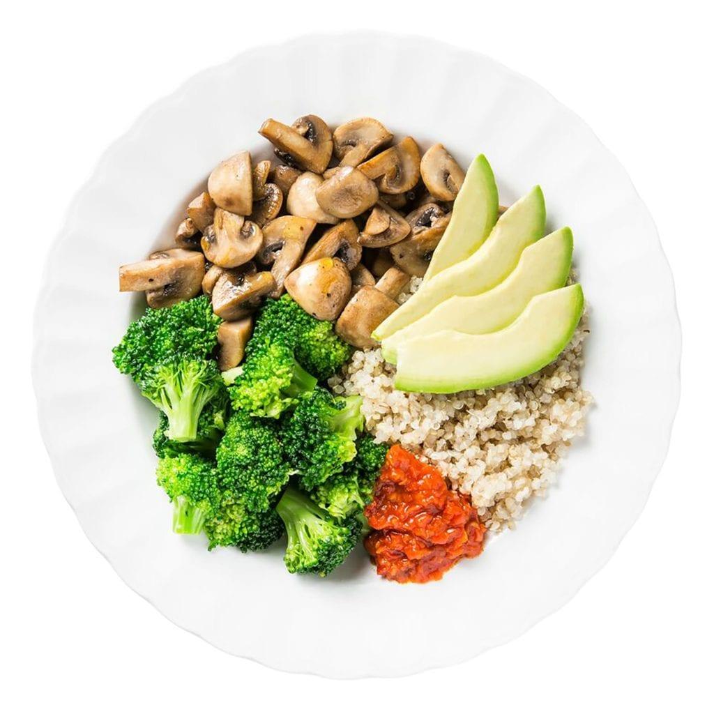 Gluten Free Broccoli Avocado Quinoa Bowls