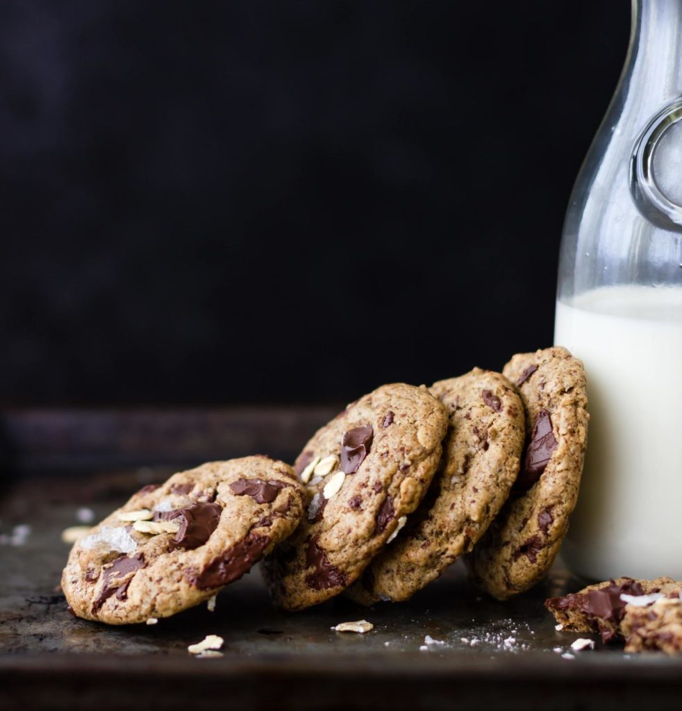 Buckwheat Chocolate Chip Almond-Butter Oatmeal Cookies