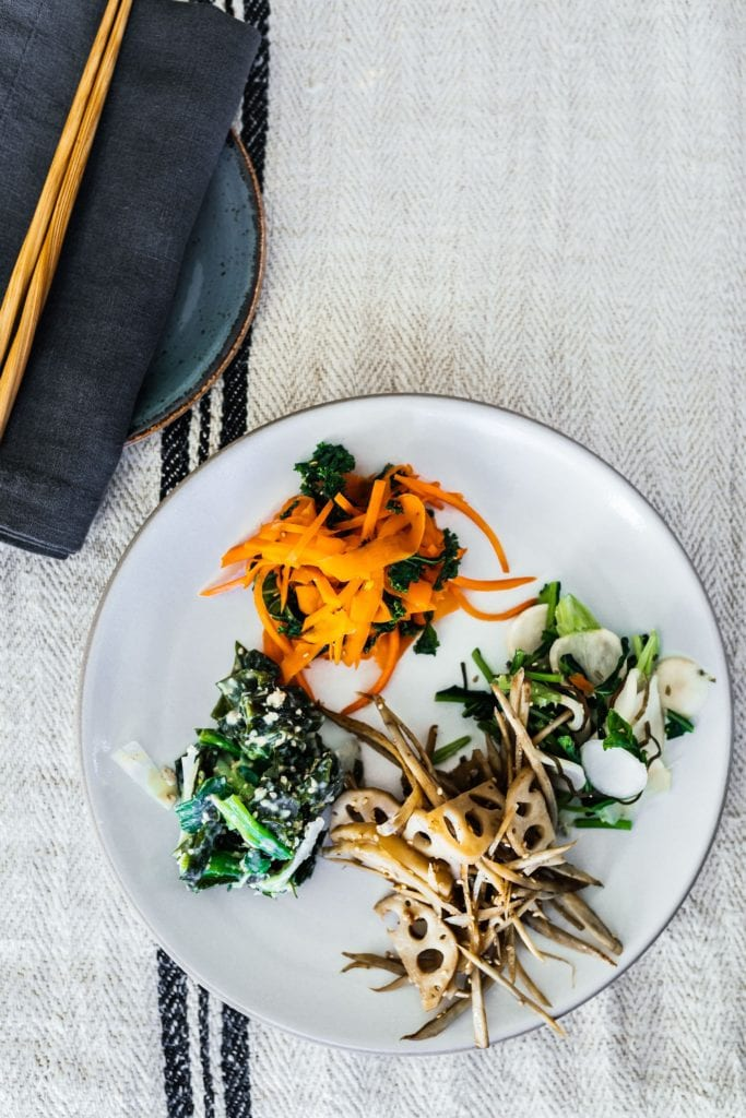 "Green Onions and Wakame Seaweed with ""Nuta"" Miso Dressing Gluten-Free Recipe"