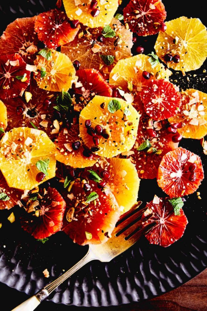 Citrus Salad with Pistachio Dukkah and Mint
