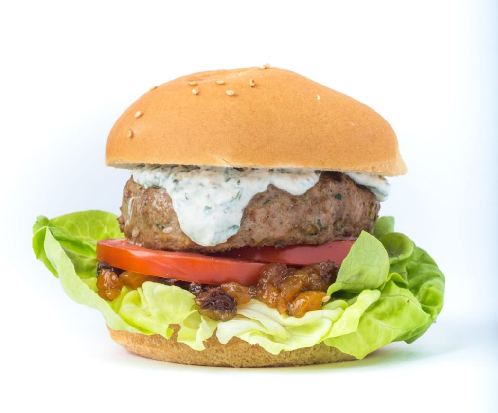 Gluten Free Burger with Curry and Chutney