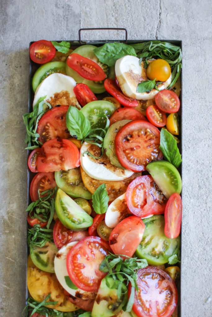 Heirloom Tomato Salad with Fig-Balsamic Reduction