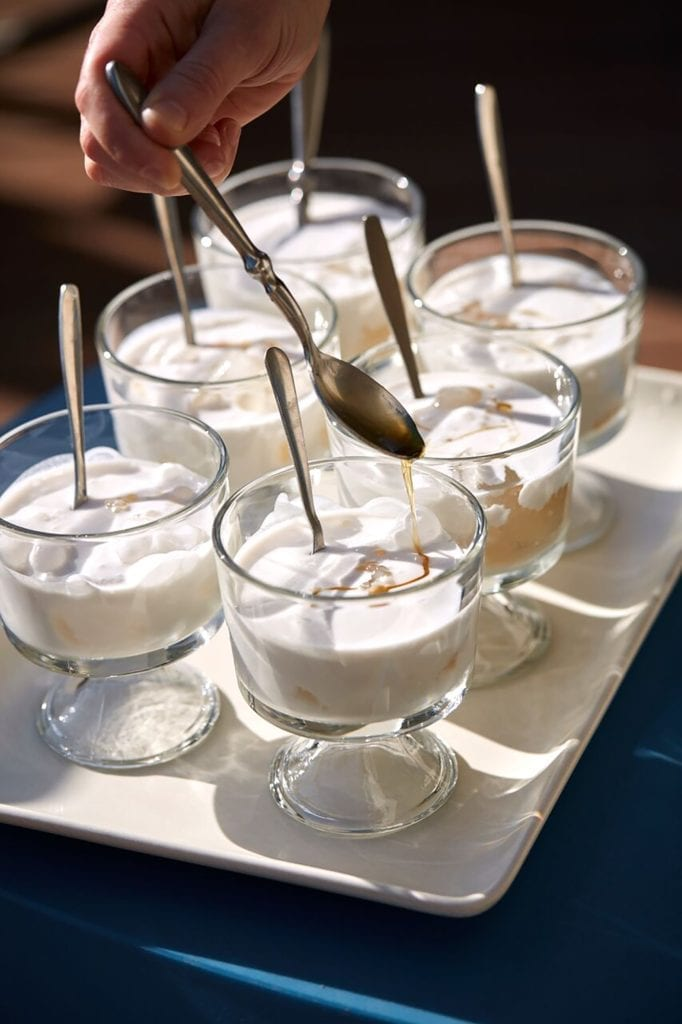 Iced Coconut Cream with Tapioca Pearls Gluten-Free Recipe