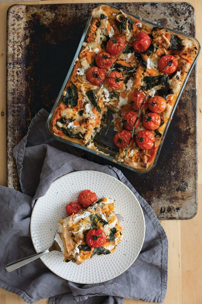 Kale and Butternut Squash Gluten Free Lasagna