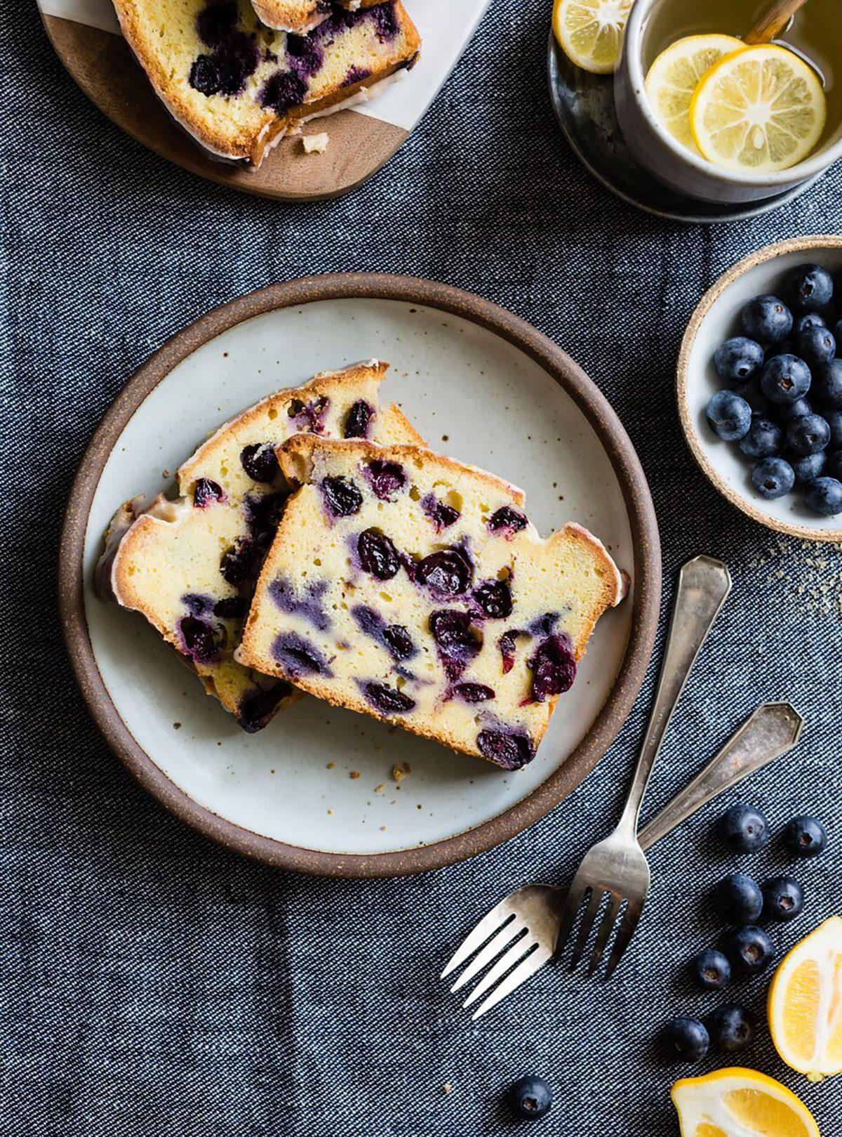 Gluten Free Loaf Cake: Lemon Blueberry Corn Flour Tea Cake