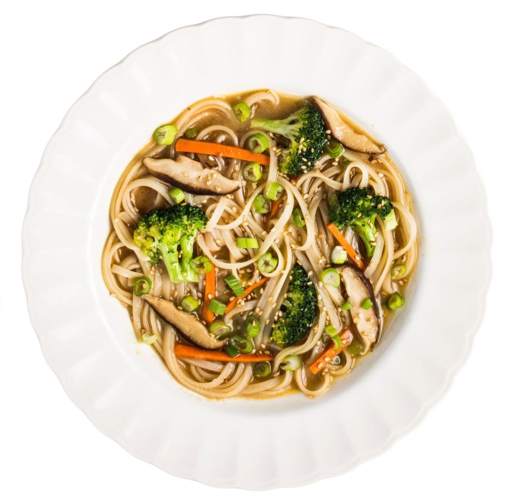Gluten-Free Miso Noodle Soup with Broccoli