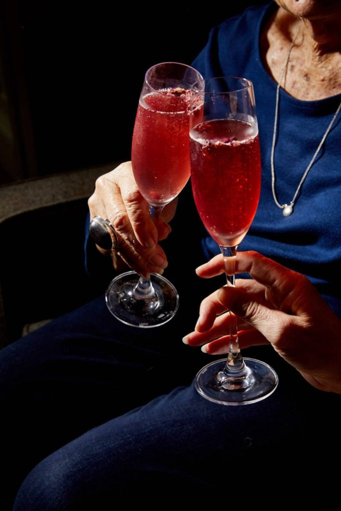 Sparkling Pomegranate-Rose Cocktail Recipe