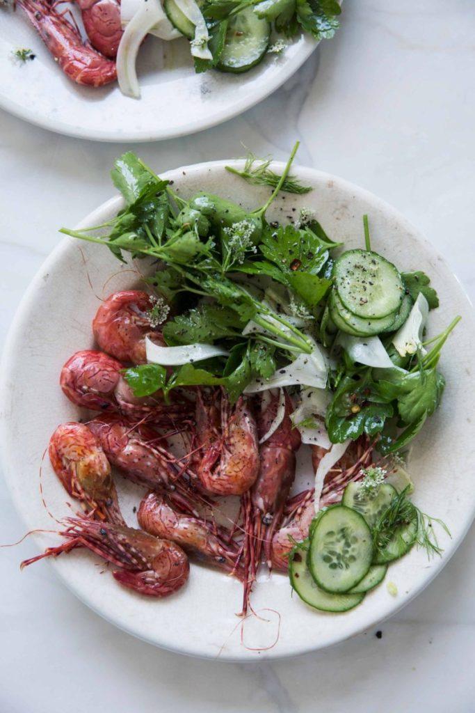 Gluten Free Prawns With Celery Fennel Salad