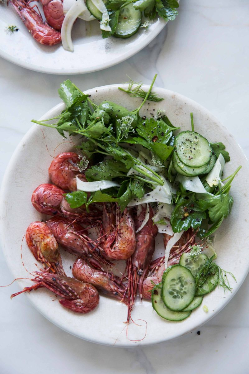 Gluten Free Prawns With Celery Fennel Salad