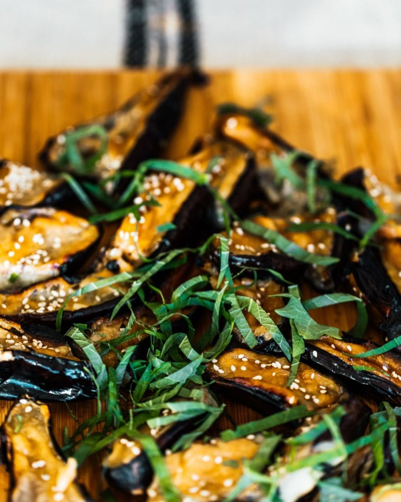 Sweet Miso Glazed Japanese Eggplant