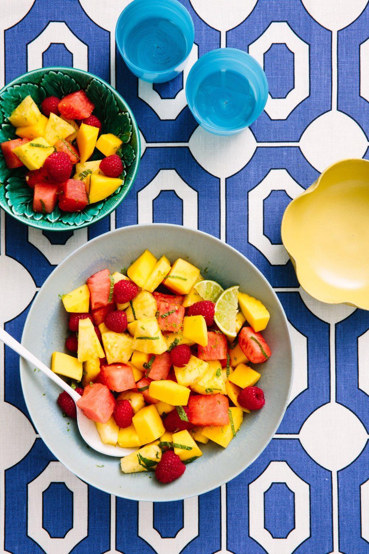 Gluten Free Summer Dish Tangy Fruit Salad