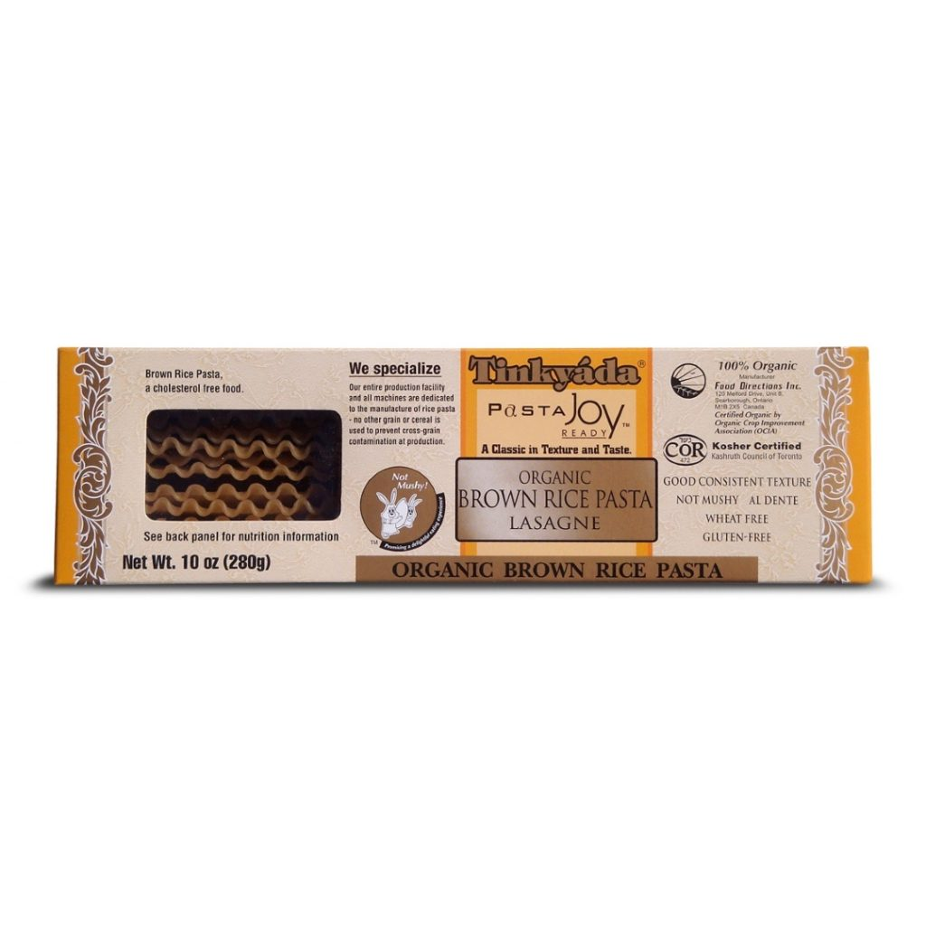 Product Review: Tinkyáda Brown Rice Pasta Lasagne