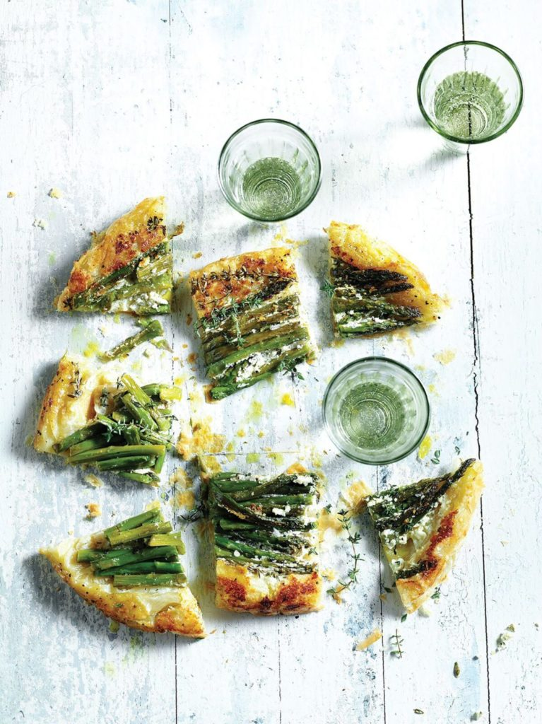 Gluten-Free Caramelized Asparagus and Goat Cheese Tatin Recipe