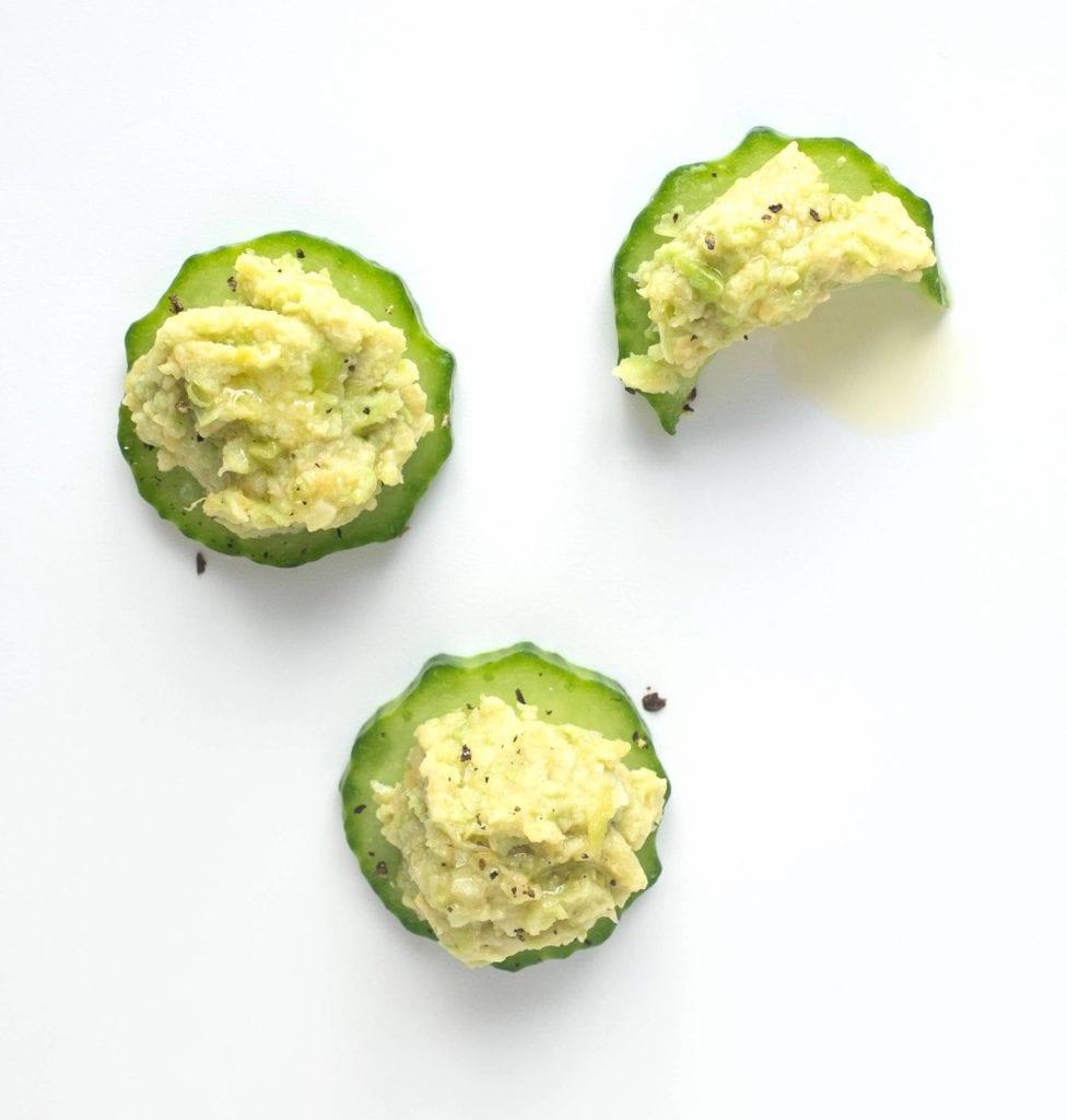 Gluten-Free Edamame Hummus with Cucumber Recipe