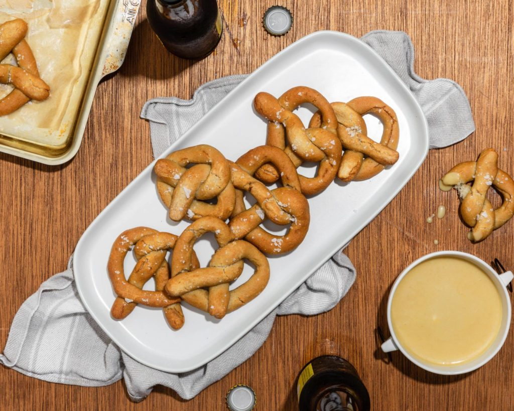 Gluten-Free Soft Pretzels with Honey-Mustard Dipping Sauce