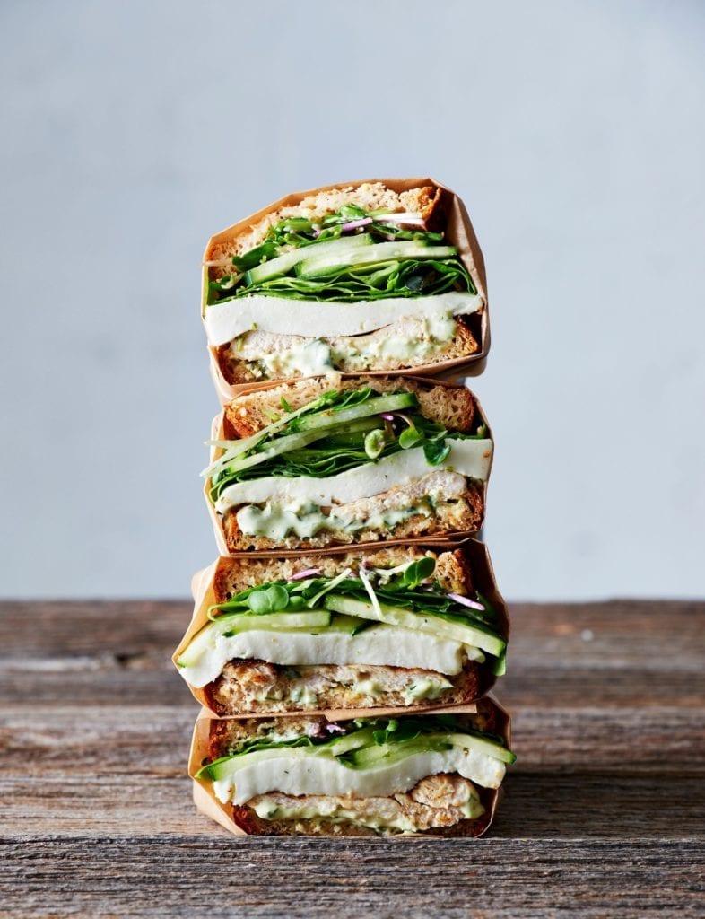 Gluten-Free Chicken Sandwich with Green Goddess Dressing