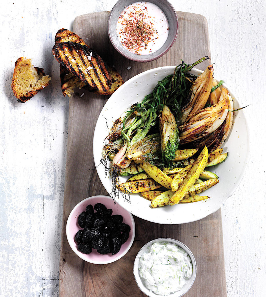 Springtime Mezze with Tzatziki and Spiced Labneh