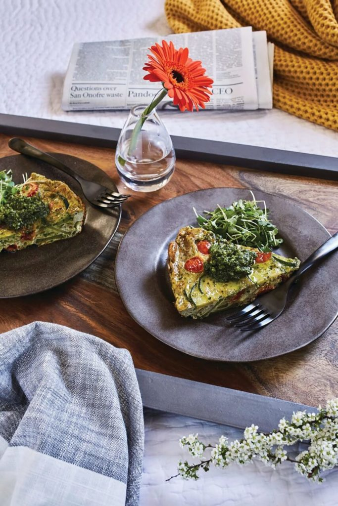 Vegetable Pesto Frittata