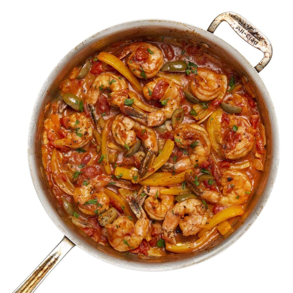 Shrimp in Tomato-Garlic Sauce