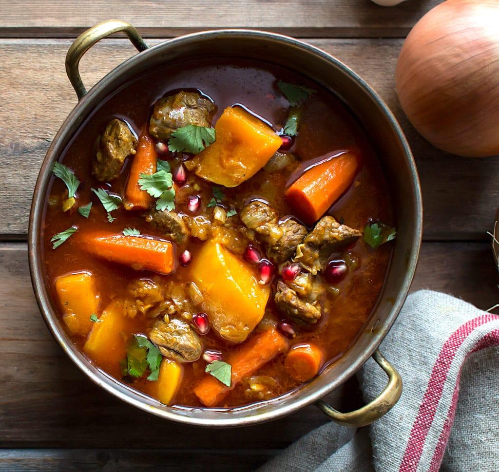 Gluten-Free Moroccan Lamb and Pumpkin Stew Recipe