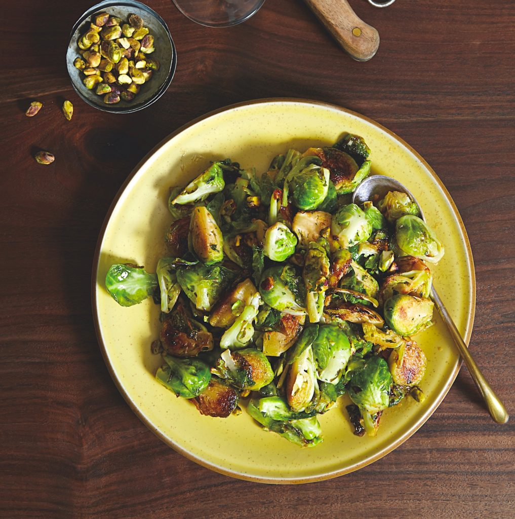 Brussels Sprouts with Rosemary and Pistachio