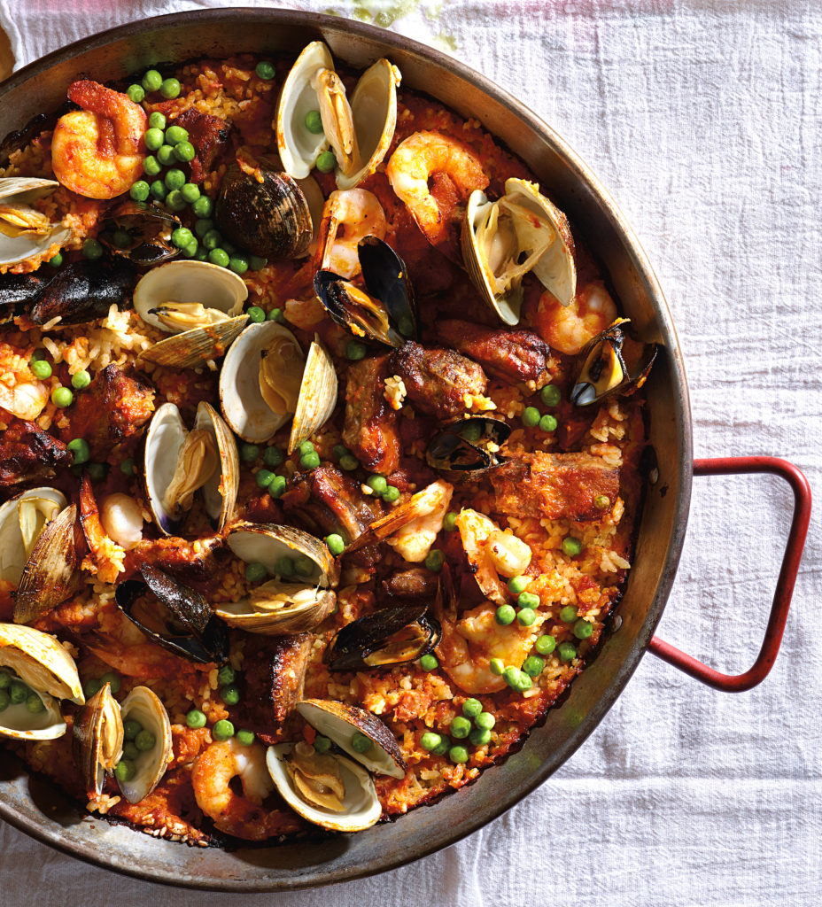 Seafood Paella with Baby Back Riblets
