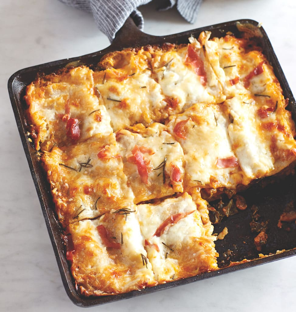 Gluten-Free Lasagna Bolognese with Greens